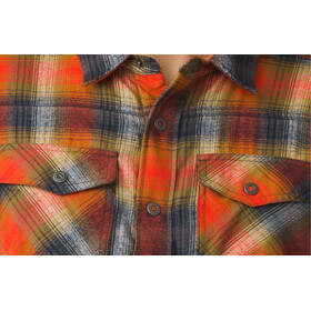 Prana Asylum Flannel LS Shirt Herr atomic orange